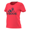 ADIDAS Women`s Badge of Sport Northern Lights Tee Shock Red