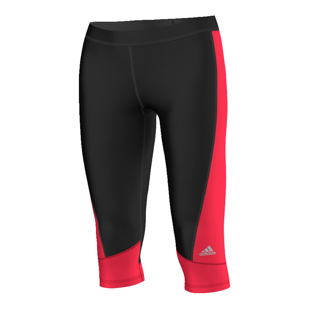 Women's Techfit Capri Black And Ray Red