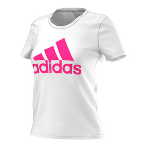 Women`s Badge of Sport Tee White