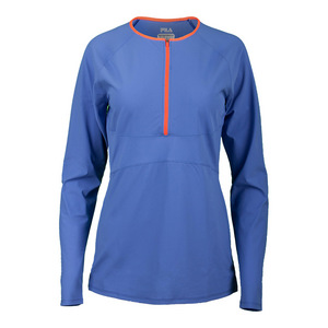 Women`s Platinum Quarter Zip Tennis Top Persian Jewel