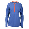 FILA Women`s Platinum Quarter Zip Tennis Top Persian Jewel
