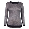 TAIL Women`s Janine Long Sleeve Top Black Heather