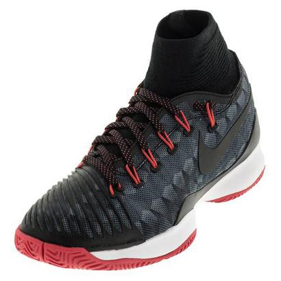 Women`s Air Zoom Ultrafly Tennis Shoes Black and Ember Glow