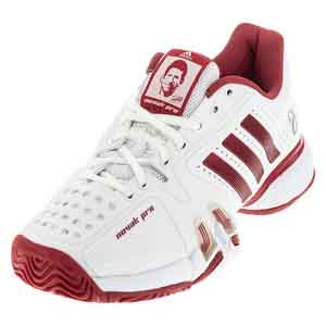 Men`s Novak Pro Tennis Shoes White and Power Red