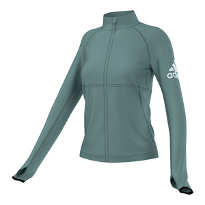 adidas WOMENS PERFORMER FZ JACKET VAPOUR STEEL