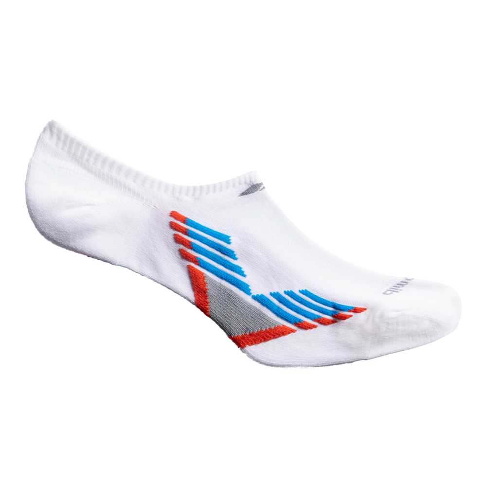 Women's Climacool X Iii No Show Socks 2 Pack White And Blue Shoe Sizes 5- 10