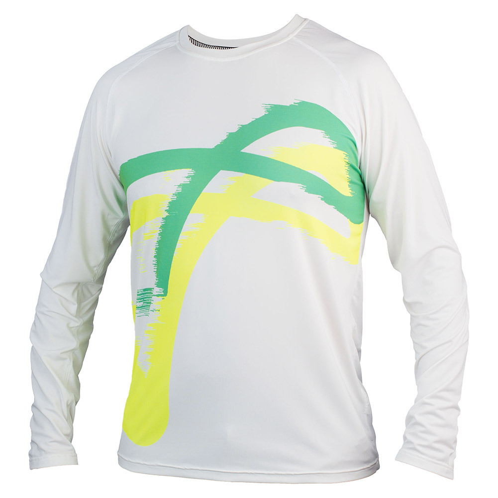 Boys ` Match Long Sleeve Tennis Top Blast Green