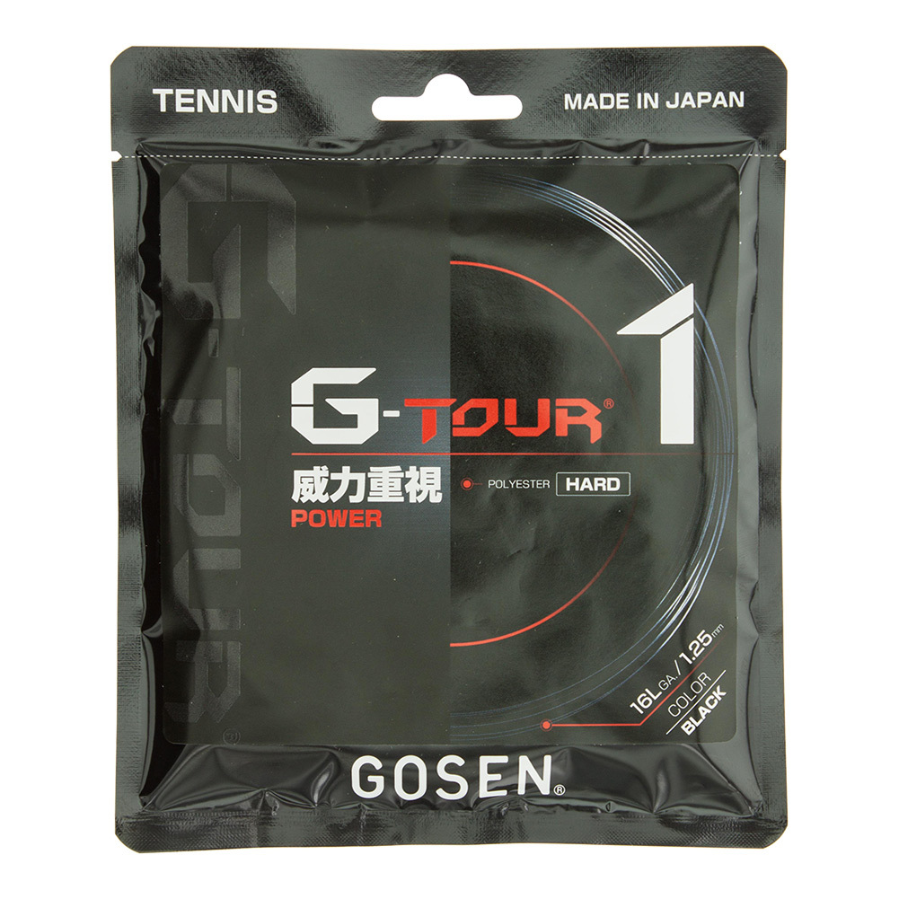 G- Tour 1 16l Tennis String Black