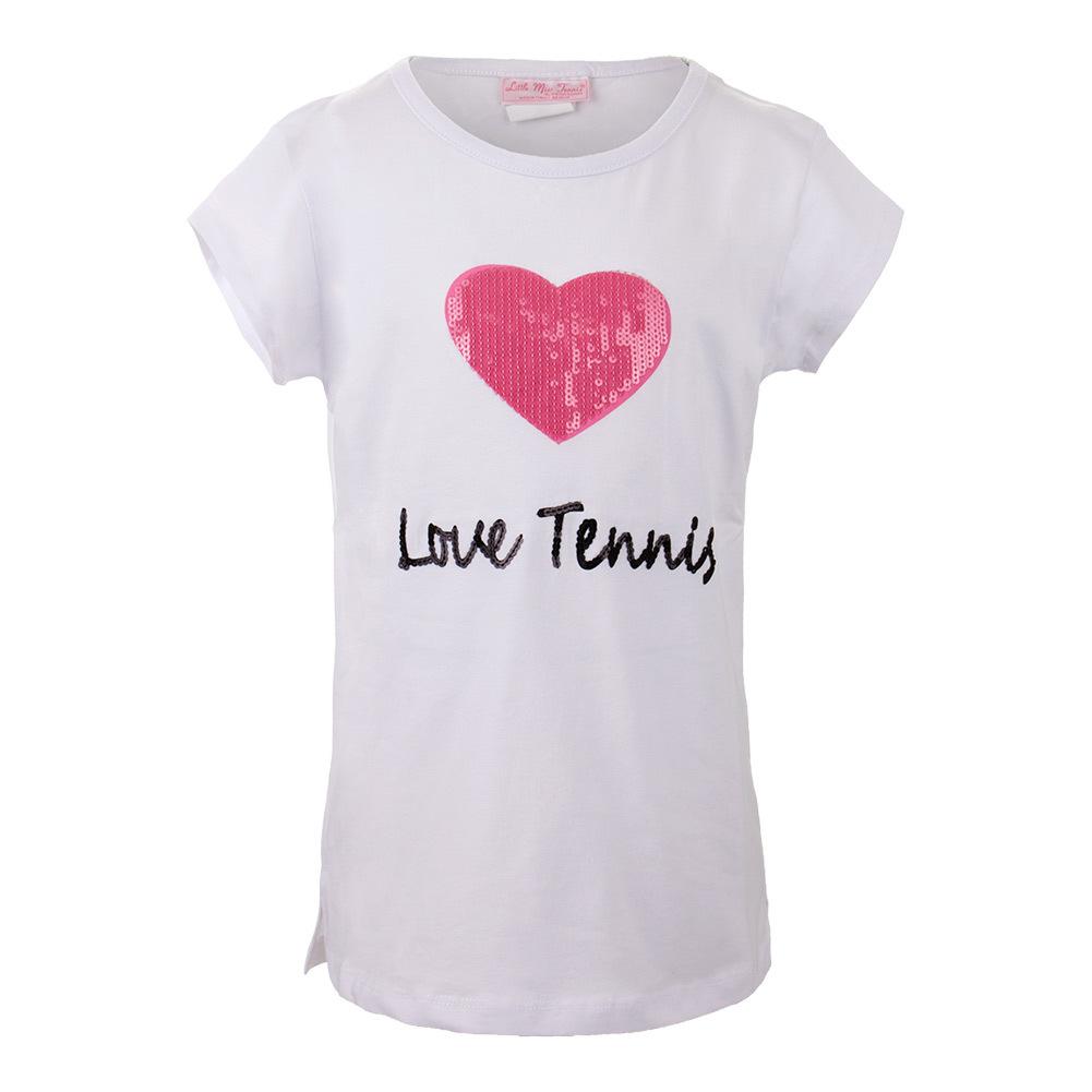 Girls ` Love Tennis Tee White
