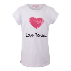 Girls` Love Tennis Tee White