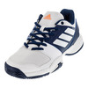 ADIDAS Juniors` Barricade Club Tennis Shoes Mystery Blue and White