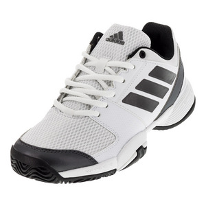 Juniors` Barricade Club Tennis Shoes White and Night Metallic