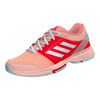 ADIDAS Women`s Barricade Club Tennis Shoes Haze Coral and White
