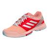 ADIDAS Women`s Barricade Club Tennis Shoes Haze Coral and White