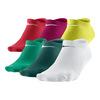 Women`s Lightweight No Show Socks Medium 6 Pack 917_TEAL/YELLOW
