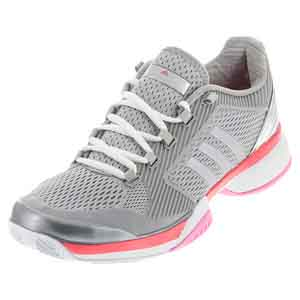 Women`s aSMC Barricade 2016 Tennis Shoes Silver Metallic and Flash Red