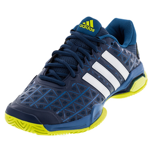 Men`s Barricade Club Tennis Shoes Tech Steel and White