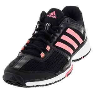 Women`s Barricade Club Tennis Shoes Black and Flash Red