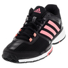 ADIDAS Women`s Barricade Club Tennis Shoes Black and Flash Red