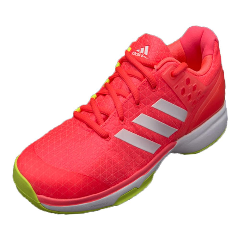 Women's Adizero Ubersonic 2 Tennis Shoes Flash Red And White