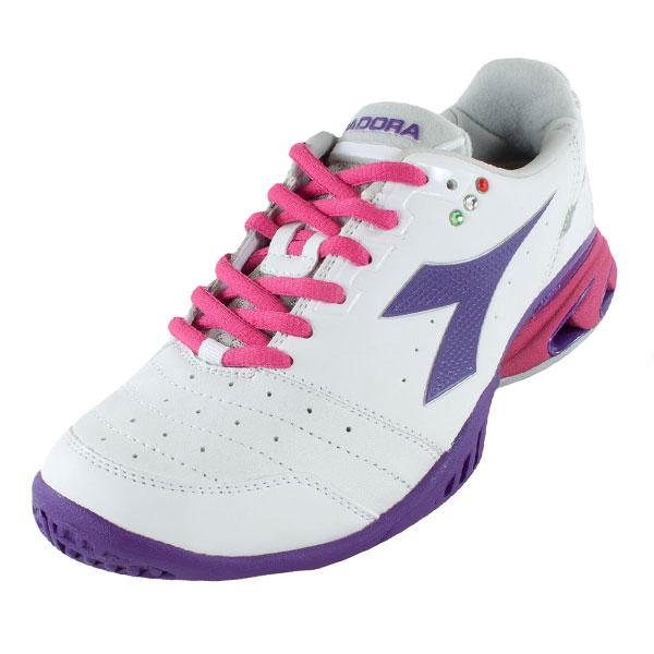 Women's S Star K Iii Ag Tennis Shoes White And Violet Helium