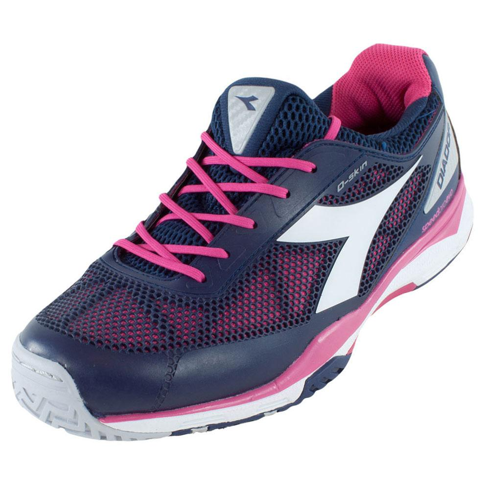Women's S Pro Evo Ag Tennis Shoes Blue Plum And Bright Rose