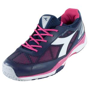 Women`s S Pro Evo AG Tennis Shoes Blue Plum and Bright Rose