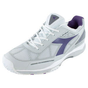 Women`s S Pro Evo AG Tennis Shoes White and Violet