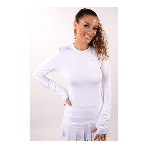 Women`s Exert Long Sleeve Tennis Top White