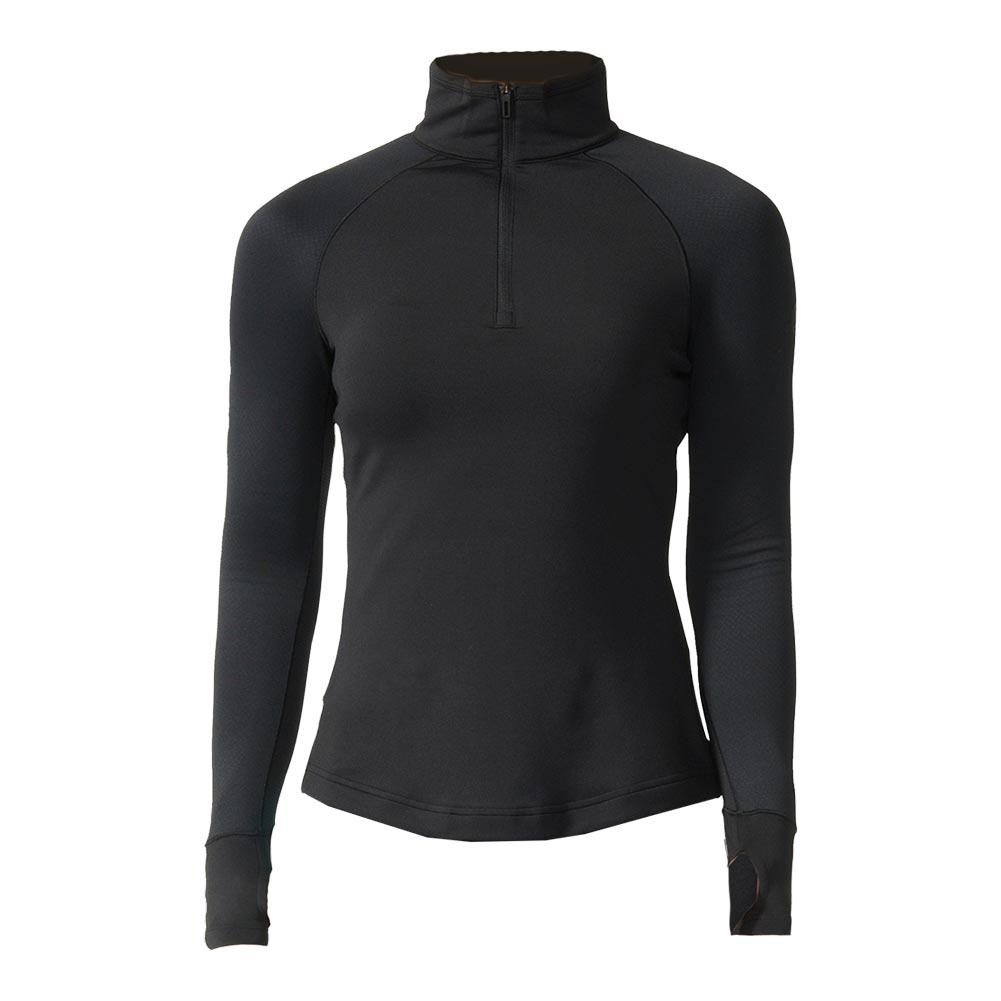 Women's Techfit Cold Weather Half Zip Top Black
