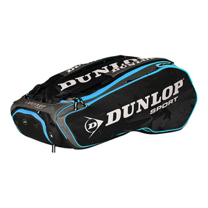 Performance 12 Racquet Tennis Bag Black and Blue