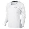 Women`s Dry Miler Long Sleeve Running Top 100_WHITE