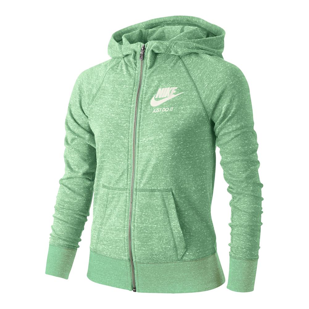 b9e2b7ddca41 Girls` Sportswear Gym Vintage Hoodie 343 FRESH MINT SAIL