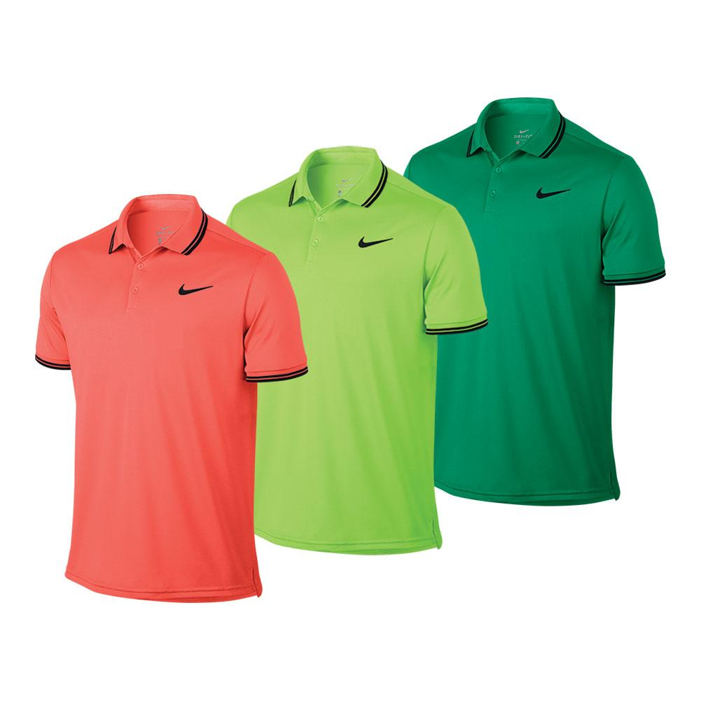 Men's Court Solid Dry Tennis Polo