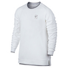 Men`s Court Baseline Long Sleeve Tennis Top 100_WHITE
