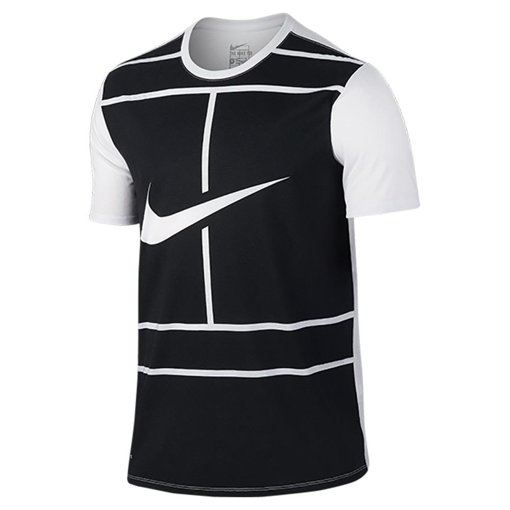 Men's Court Tennis Tee White And Black