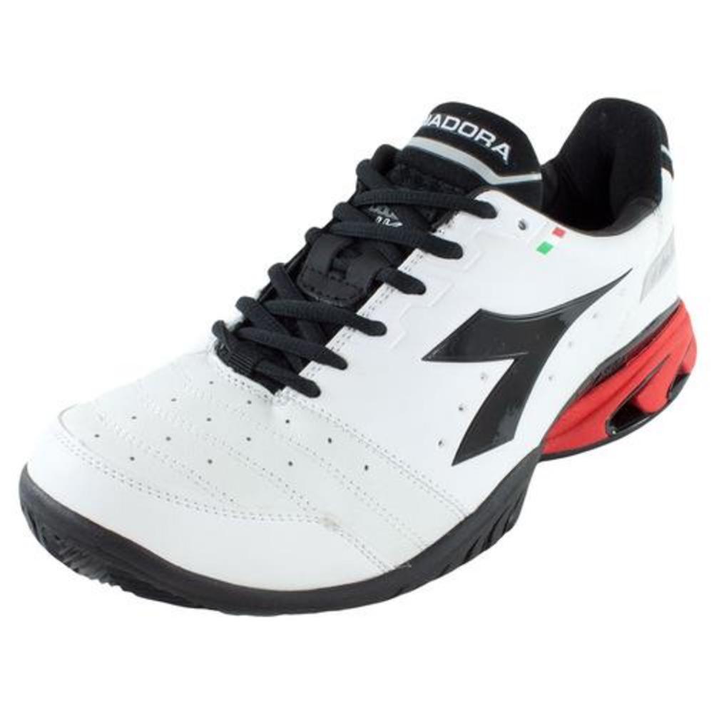 Men's S Star K Vi Ag Tennis Shoes White And Black