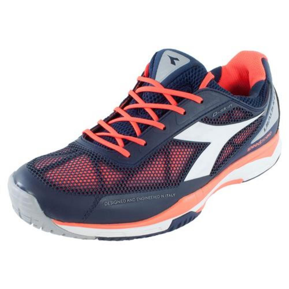 Men's S Pro Evo Ag Tennis Shoes Blue Prugna And Flame Red