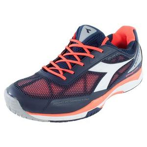 Men`s S Pro Evo AG Tennis Shoes Blue Prugna and Flame Red