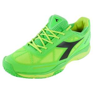 Men`s S Pro Evo AG Tennis Shoes Green and Fluo Yellow