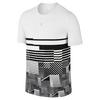 Men`s Court Tennis Tee 1 100_WHITE/BLACK