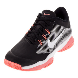Women`s Air Zoom Ultra Tennis Shoes Black and White