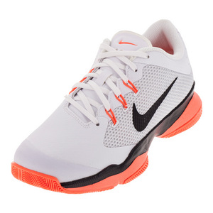 Women`s Air Zoom Ultra Tennis Shoes White and Black