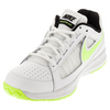 NIKE Women`s Air Vapor Ace Tennis Shoes White and Volt