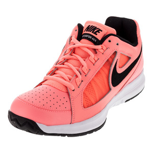 Women`s Air Vapor Ace Tennis Shoes Lava Glow and Black