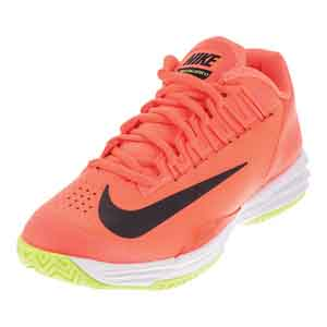 Men`s Lunar Ballistec 1.5 Tennis Shoes Hyper Orange and Black