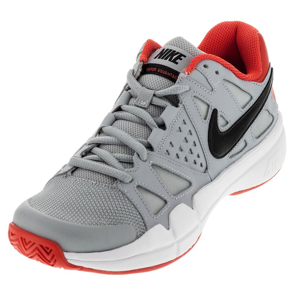 Men's Air Vapor Advantage Tennis Shoes Wolf Gray And Max Orange