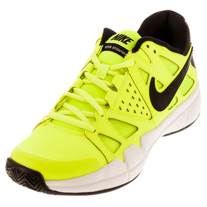 Men`s Air Vapor Advantage Tennis Shoes Volt and Black