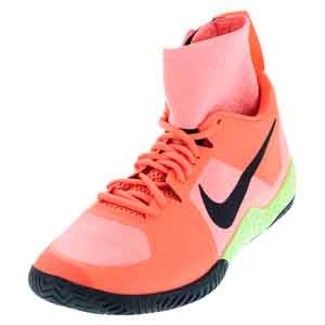 Women`s Flare Tennis Shoes Lava Glow and Hyper Orange