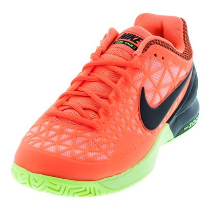 Women`s Zoom Cage 2 Tennis Shoes Hyper Orange and Black